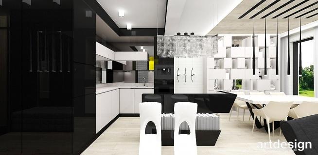 otwarta kuchnia z wyspą - nowoczesne wnętrze domu | LOOK #07