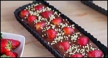 Ciasto oreo z czekoladą i truskawkami - link do przepisu w komentarzu :)