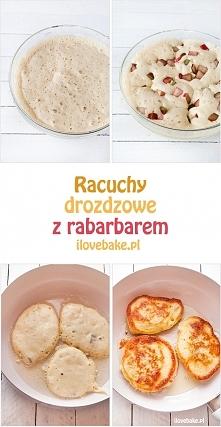 Racuchy z rabarbarem (owocami), najlepszy – przepis