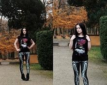 Silver Wolfie, koszulka Librastyle, legginsy Chicnova