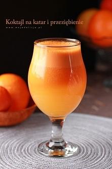 Koktajl marchewkowo-pomarańczowy, na katar i przeziębienie   Moja Delicja