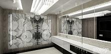 łazienka z mozaiką | VOICES IN MY HEAD II - wnętrza rezydencji
