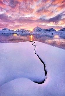 Zachód słońca na Alasce