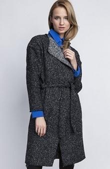 Lanti PA 102 płaszcz grafit Ciepły i elegancki płaszcz, doskonały na chłodne dni, eleganckie klapy