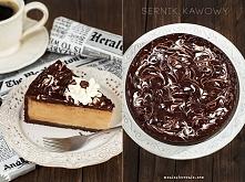 Sernik mocno kawowy czyli aromatyczna kawa i pyszne ciasto w jednym! Polecam nie tylko wszystkim kawoszom! Przepis po kliknięciu w zdjęcie. (maniapieczenia.com)