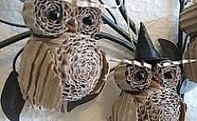 sowy z papieru