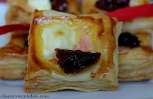Z ciasta francuskiego - sakiewki lub paszteciki - przekąski na imprezę, domówkę czy sylwestra
