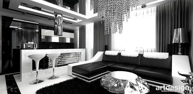 luksusowe wnętrze - salon z kuchnią