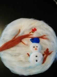 wool painting winter