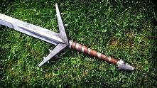 Replika srebrnego miecza Wiedźmina - Aerondight cz.2