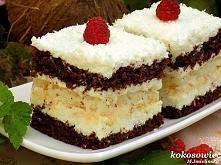 Lekkie jak puch ciasto z kokosową bezą i koksową masą na bazie mascarpone. *f...