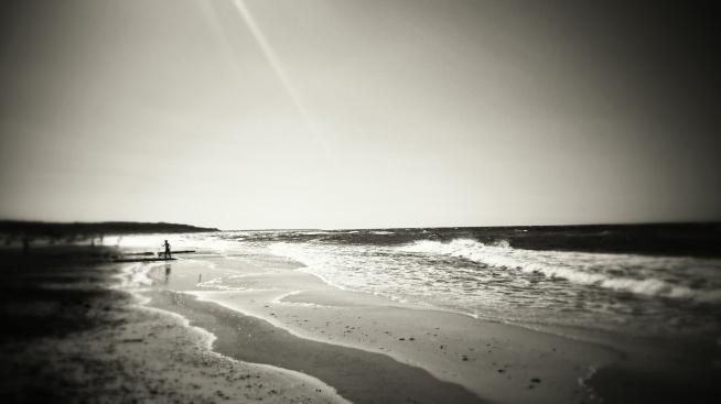 Piękne, cudowne Morze Bałtyckie. Ustka2015, spacer po plaży. Fotografia z kategorii podróże i krajobrazy.