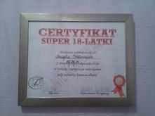 certyfikat osiemnastkowy, z...
