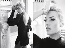 Piękna kobieta i piękna sesja w Harper's Bazaar