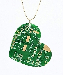 Recycled Heart from computers chips by galbarash on Etsy