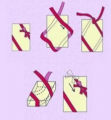 wiązanie kokardy na prezencie