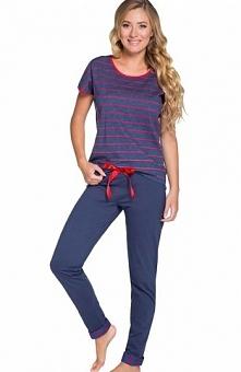 Italian Fashion Astrid kr.r. dł.sp. komplet Komfortowa piżama damska Astrid, ...