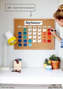 diy kalendarz z tablicy korkowej