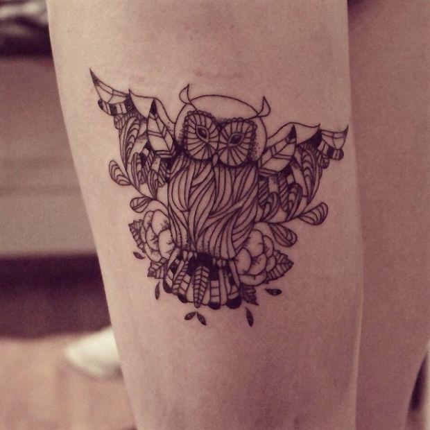 Sowa Symbol Mądrości Tatuaż Na Wymarzone Tatuaże 3