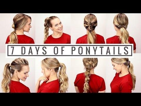 7 Days of Ponytails!