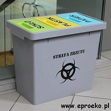 Pojemnik do segregacji odpadów 40 litrów z grafiką zaprojektowaną przez nasze...