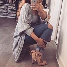Obszerny sweterek i piękne buty od honessst z 20 października - najlepsze sty...