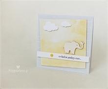 Ręcznie robiona kartka - w oczekiwaniu na dziecko
