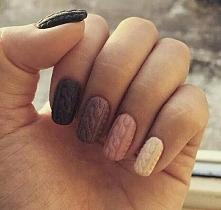 """Sweterkowe"" paznokcie"