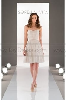 Sorella Vita Ivory Bridesmaid Dress Style 8500
