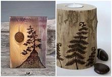 wypalanie w drewnie