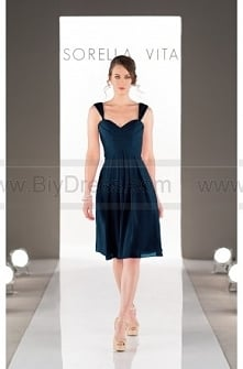 Sorella Vita Navy Blue Bridesmaid Dress Style 8447