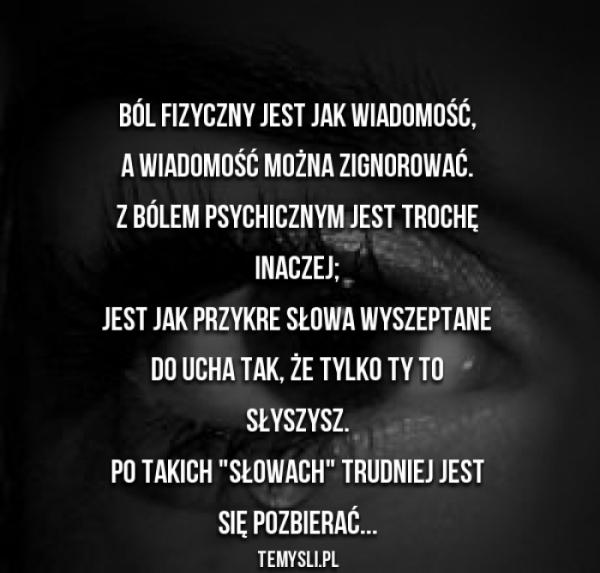 ból cytaty ból smutne ale prawdziwe :( na Cytaty   Zszywka.pl ból cytaty