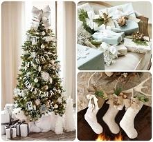 biała dekoracja na Boże Narodzenie