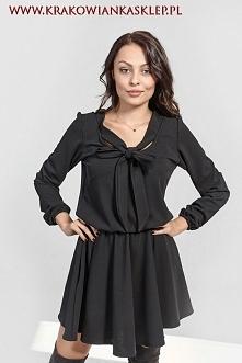 sukienka z ozdobnym wiązaniem