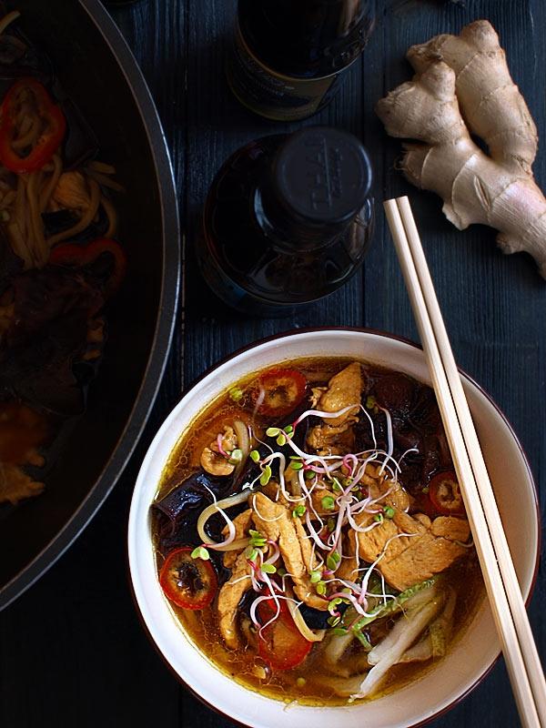 Błyskawiczna zupa z woka