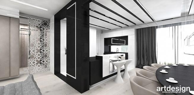 projekt salonu z jadalnią i kuchnią | HAUTE COUTURE ARCHITECTURE