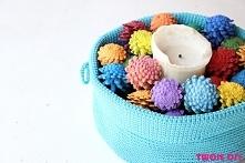 Kolorowe szyszki / colorful cones - tutorial twojediy.pl