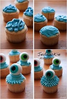 "Babeczki ""jednookie potwory"" na Halloween (cupcakes) – przepis"