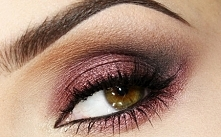 Piękny jesienny makijaż oka :)