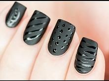 Inspiracja paznokciowa: czarny w wydaniu matowym i błyszczącym