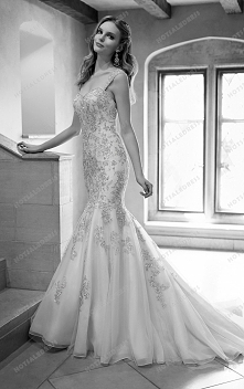 Martina Liana Dropped Waist Wedding Dress Style 672