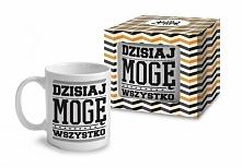"""Wyjątkowy kubek z napisem """"Dzisiaj mogę wszystko"""", wykonany z wysokiej jakości ceramiki.  Doskonale smakować w nim będą aromatyczne kawy i herbaty smakowe.  Produkt to..."""