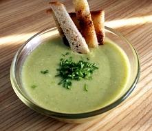 Zupa krem z brokuła, ze szc...