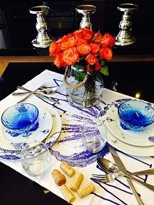 proste nakrycie stołu a jakie efektowne!  Więcej zdjęć na moim blogu: homemade-stories.blogspot.be