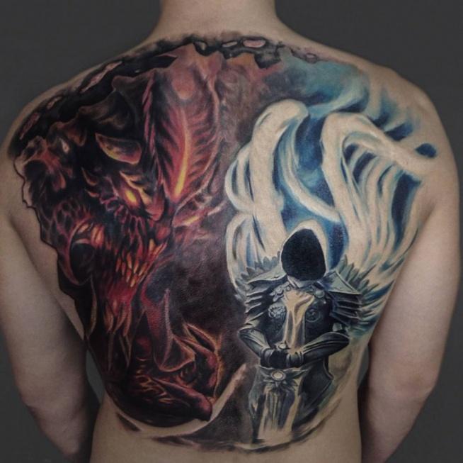 Tatuaże Anioły I Demony Na Humor Zszywkapl