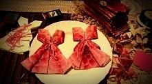 sukienki z serwetek ; chrzciny
