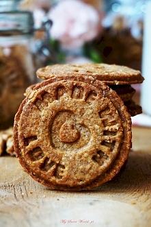 Zdrowe ciasteczka orzechowo-żytnie- idealne do stemplowania