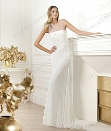Bridal Gown - Style Pronovias Libusa Satin And Tulle Embroidery