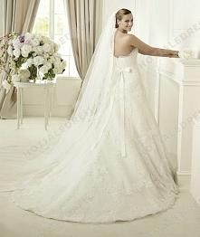 Wedding Dress - Style Pronovias Danesa Lace And Tulle Embroidery Strapless