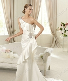 Wedding Dress - Style Pronovias Datsun Satin Embroidery Mermaid